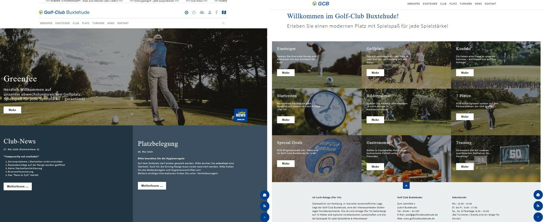 Golf-Club Buxtehude: Website-Upgrade